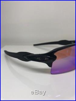 New OAKLEY Flak 2.0 XL Sunglasses C. Polished Black With Prizm Golf Lens 9188-05