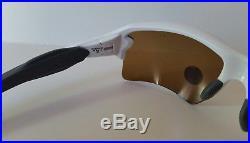 New OAKLEY Men's FLAK 2.0 PRIZM GOLF Sunglasses Polished White 009295-06