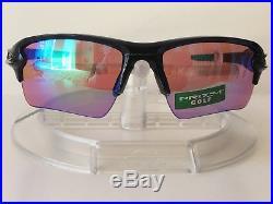 New OAKLEY Men's FLAK 2.0 XL PRIZM GOLF Sunglasses POLISHED BLACK OO9188-05