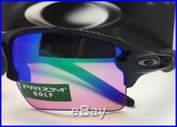 New OAKLEY Sunglasses FLAK 2.0 XL OO9188-05 Pol Black Frame with PRIZM Golf Mirror