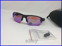 New OAKLEY Sunglasses FLAK 2.0 XL OO9188-05 Polished Black with PRIZM Golf
