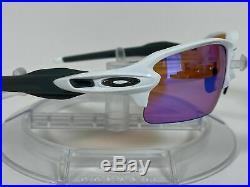 New OAKLEY Unisex FLAK 2.0 PRIZM GOLF Sunglasses OO9188-06 POLISH WHITE