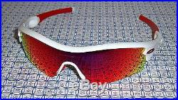 67c9f96391c56 New Oakley 09-721J Men s Radar Path Golf Sunglasses Polished White Red  Iridium