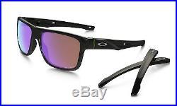 New Oakley Crossrange Sunglasses Polished Black / Prizm Golf 9361-0457