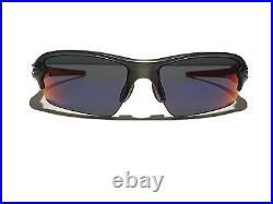 New! Oakley Flak 2.0 Grey Smoke Positive Red Iridium OO9271-03 Sunglasses