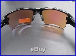 New Oakley Flak 2.0 Oo9188-05 Sunglasses Black Frame Prizm Golf Lens