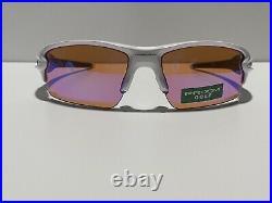 New! Oakley Flak 2.0 Polished White Prizm Golf OO9295-06 Sunglasses