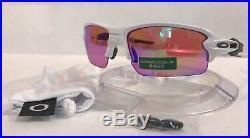 New Oakley Flak 2.0 Sunglasses OO9295-06 Polished White Prizm Golf Lenses