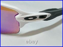 New Oakley Flak 2.0 Sunglasses Polished White PRIZM Golf Lens OO9295-06 59-12