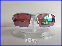 New! Oakley Flak 2.0 Sunglasses Polished White Prizm Golf Lenses oo9295-06