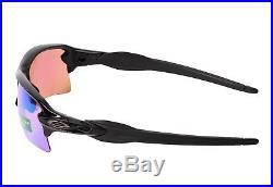 New Oakley Flak 2.0 XL PRIZM Golf Polished Black Sunglasses OO9188-05 59