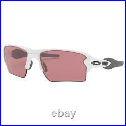 New Oakley Flak 2.0 XL Sunglasses Polished White Prizm Dark Golf