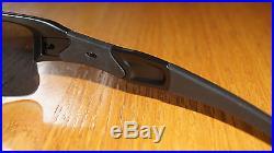 New Oakley Flak Jacket XLJ Matte Black/Black Iridium Polarized 24-433