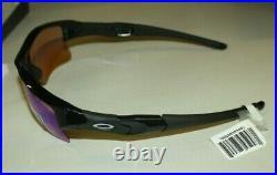 New Oakley Flak Jacket XLJ Sunglasses 24-428 Polished Black/Prizm Golf