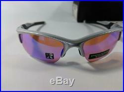 New Oakley Half Jacket 2.0 XL PRIZM Sunglasses Silver/Prizm Golf Sport