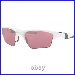 New Oakley Half Jacket 2.0 XL Sunglasses Polished White Prizm Dark Golf