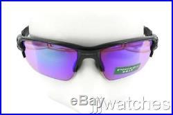 New Oakley Men Flak 2.0 XL PRIZM Golf Polished Black Sunglasses OO9188 05 $173