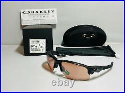 New Oakley Men's Flak Draft Sunglasses Matte Black Frame Prizm Dark Golf Lenses