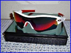 New Oakley Men's Radar Path Golf Sunglasses Polished White/Red Iridium