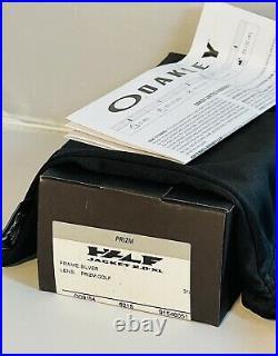 New Oakley Mens Half Jacket 2.0 XL Silver Frame Sunglasses Prizm Golf Lens