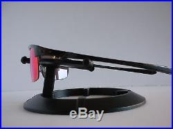 New Oakley Polarized Carbon Blade Carbon Fiber/Red Iridium Polarized OO9174-02