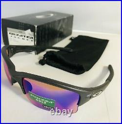 New Oakley Quarter Jacket Youth Sunglasses Steel Frame Color With Prizm Golf Lens
