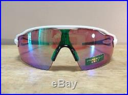 New! Oakley Radar EV Pitch Sunglasses Polished White Prizm Golf Lens OO9211-05