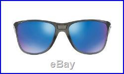 New Women's Oakley Reverie Sunglasses Gray/sapphire Polarized Lenses Oo9362-0655