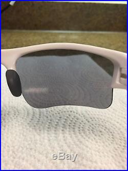 OAKLEY FLAK JACKET XLJ Sunglasses 03-917 Polished White with Black And Red Lenses