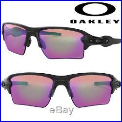 OAKLEY Flak 2.0 XL GOLF SUNGLASSES 100% GENUINE / POLISHED BLACK / PRIZM GOLF