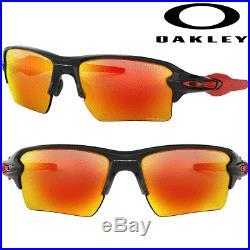 OAKLEY Flak 2.0 XL GOLF SUNGLASSES 100% GENUINE / POLISHED BLACK / PRIZM RUBY