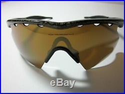 OAKLEY M-FRAME Golf Heater Gold X with Gold Lens VENTED! Duval (NEW NOS) Box
