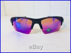 OAKLEY OO9188-05 FLAK 2.0 XL Polished Black w Prism Golf Lenses Sport Suns $176