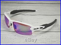 OAKLEY OO9295 06 Flak 2.0 Polished White Prizm Golf 59 mm Men's Sunglasses