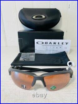OAKLEY OO9373-1070 FLAK DRAFT Matte Carbon w Prizm Dark Golf Sport Suns $196