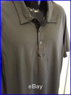 OAKLEY POLO SHIRT Stripe Golf Sunglasses Brand Gray Dri Fit Tech Bubba Mens, XL