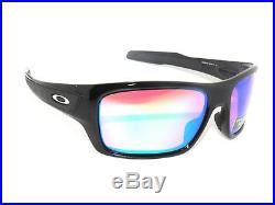 OAKLEY TURBINE 9263-30 POLISHED BLACK PRIZM GOLF SunglasseS