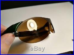 OAKLEY ZERO 0.4 Joker Green / Gold Iridium RARE Sunglasses Golf MADE IN USA Used