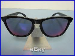 OAKLEY golf FROGSKIN sunglass POLISHED BLACK/+RED IRIDIUM NEW in bag 24-254