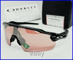 OAKLEY polished black PRIZM DARK GOLF RADAR EV PITCH OO9211-18 sunglasses NEW