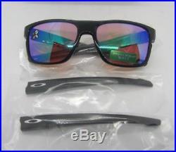 OAKLEY polished black PRIZM GOLF CROSSRANGE OO9361-0457 sunglasses