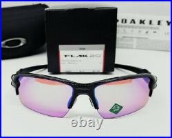 OAKLEY polished black PRIZM GOLF FLAK 2.0 (Asia fit) OO9271-09 sunglasses NEW