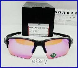 OAKLEY polished black PRIZM GOLF FLAK 2.0 XL OO9188-05 sunglasses! NEW IN BOX