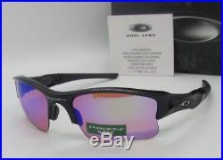 e7c6e8b555 OAKLEY polished black PRIZM GOLF FLAK JACKET XLJ 24-428 sunglasses NEW IN  BOX