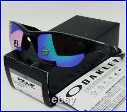 OAKLEY polished black PRIZM GOLF HALF JACKET 2.0 OO9153-27 (A) sunglasses NEW