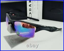 OAKLEY polished black PRIZM GOLF HALF JACKET 2.0 XL OO9154-49 sunglasses! NEW