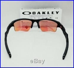 OAKLEY polished black PRIZM GOLF HALF JACKET 2.0 XL OO9154-49 sunglasses NEW