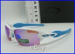OAKLEY polished white PRIZM GOLF FLAK 2.0 OO9271-17 (AF) sunglasses! NEW