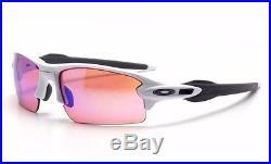 OAKLEY polished white PRIZM GOLF FLAK JACKET 2.0 OO9295-06 sunglasses! NEW