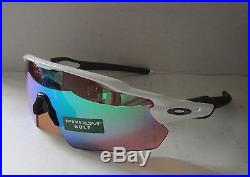 66a7b5ca6e OAKLEY polished white PRIZM GOLF RADAR EV PITCH OO9211-05 sunglasses NEW IN  BOX